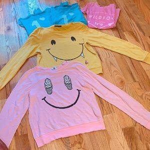 Wildfox Tops Bundle: 4 Sweaters 1 Shirt Sz M $475!